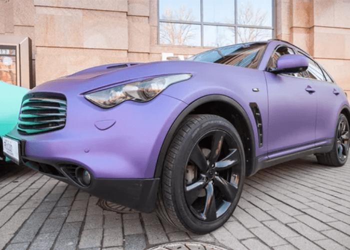 purple matte finish on SUV